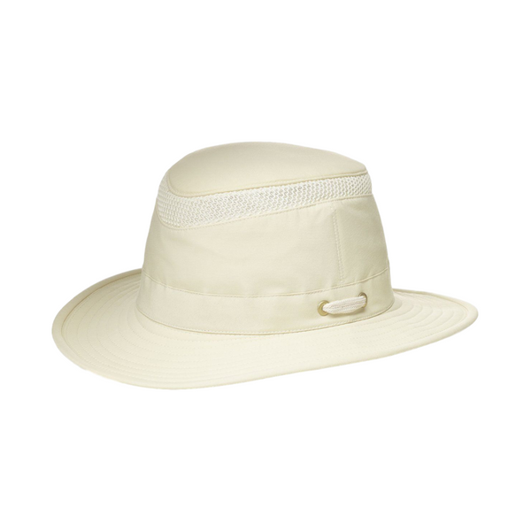 Side view of Tilley LTM5 Airflo hat in Natural colour