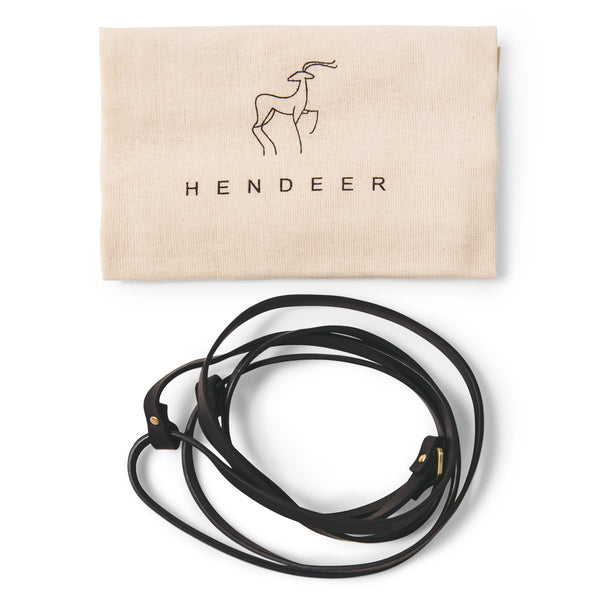 HENDEER - Leather Carry Straps - Black