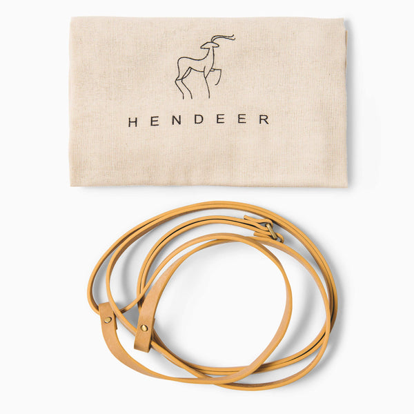 HENDEER - Leather Carry Straps - Natural