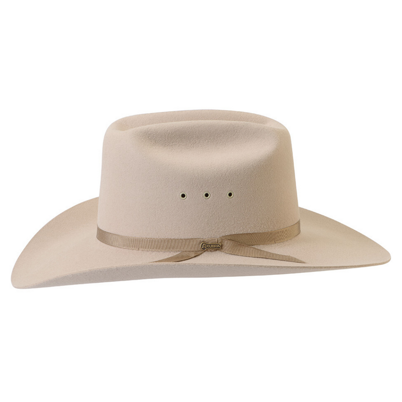 side view of the Akubra Outback Club hat in Sand colour