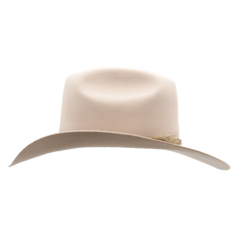 Side view of Akubra Rough rider hat in Light Sand colour