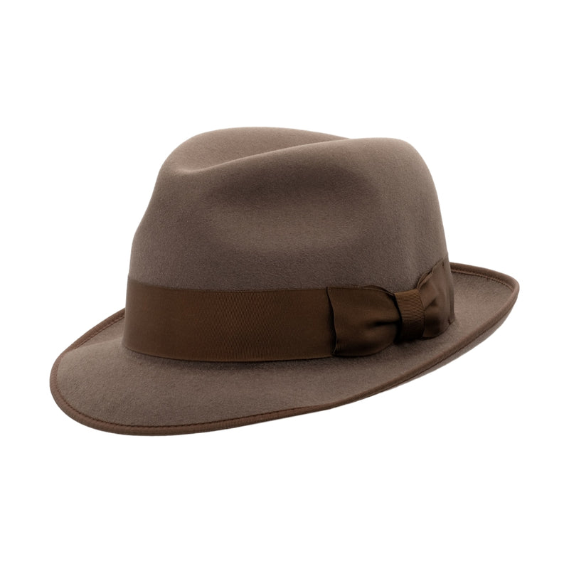 angle view image of Akubra Hampton hat in Regency Fawn