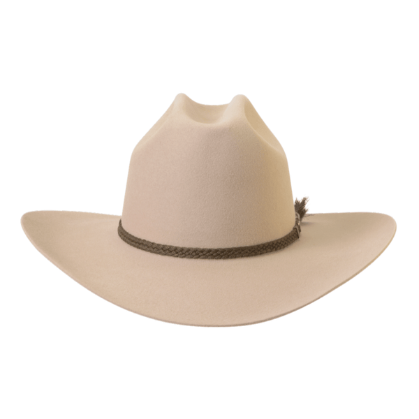 Front on view of Akubra the Arena hat  in Sand colour