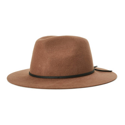 Brixton Wesley Fedora in Bison and black colour combination
