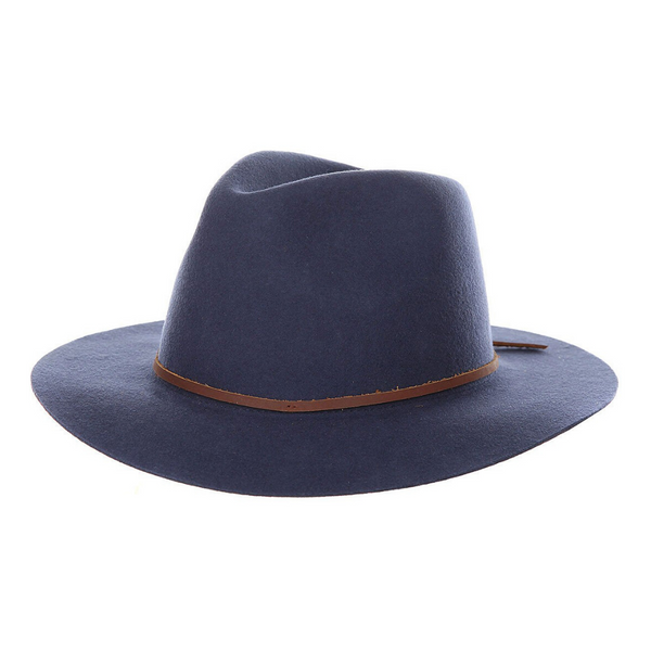 Brixton Wesley fedora in washed navy colour