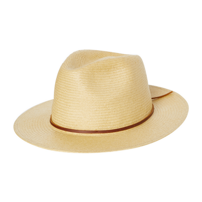 Brixton Wesley Straw Fedora in Tan colour