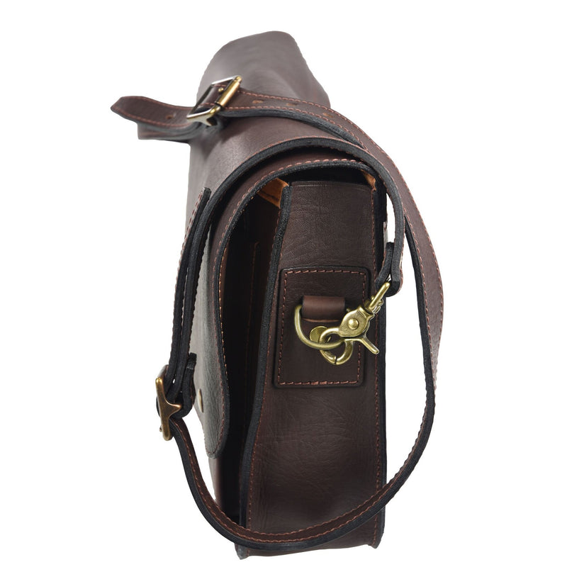 "Akubra Canning 15"" Satchel - Brown Leather"