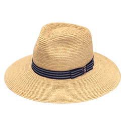 Angle view of Hills hats Madagascan Explorer Straw Hat