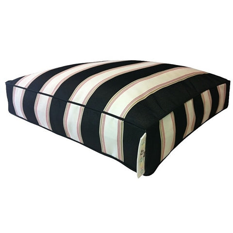 Black & natural large stripes with small red stripe