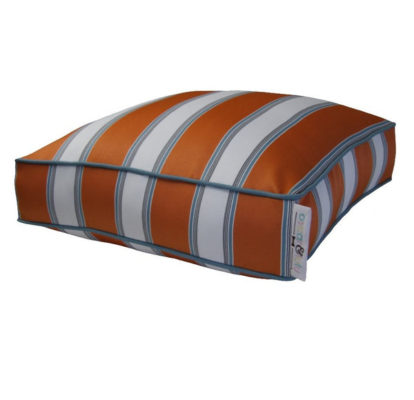 Orange & White large stripes with small blue stripes