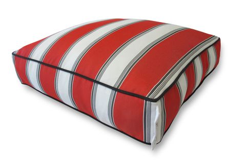 Red & White large stripes with small black stripes