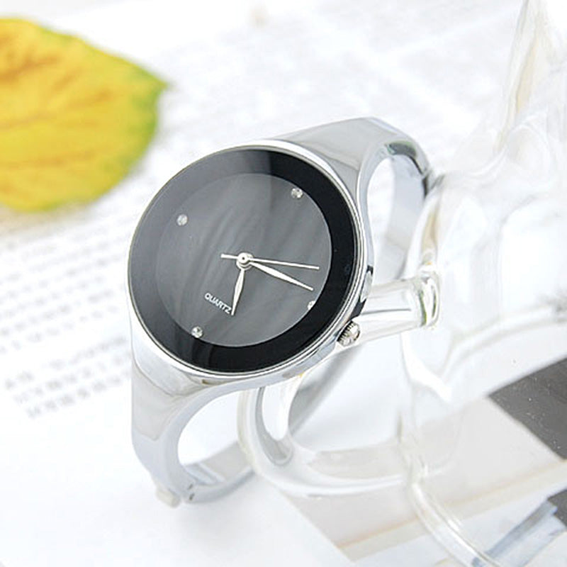 Simple Stainless Steel Bangle Watch