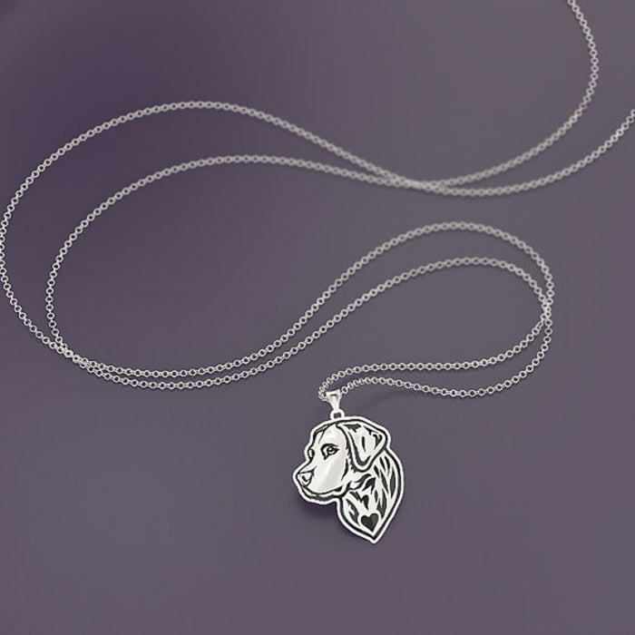 Labrador Retriever Dog Silver Necklace
