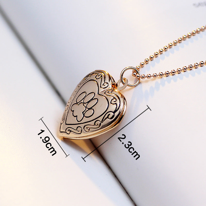 Dog Paw Heart Necklace/Locket