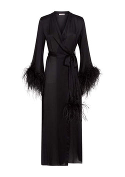 Gilda & Pearl Babydoll One Size / Black Esmé Long Robe