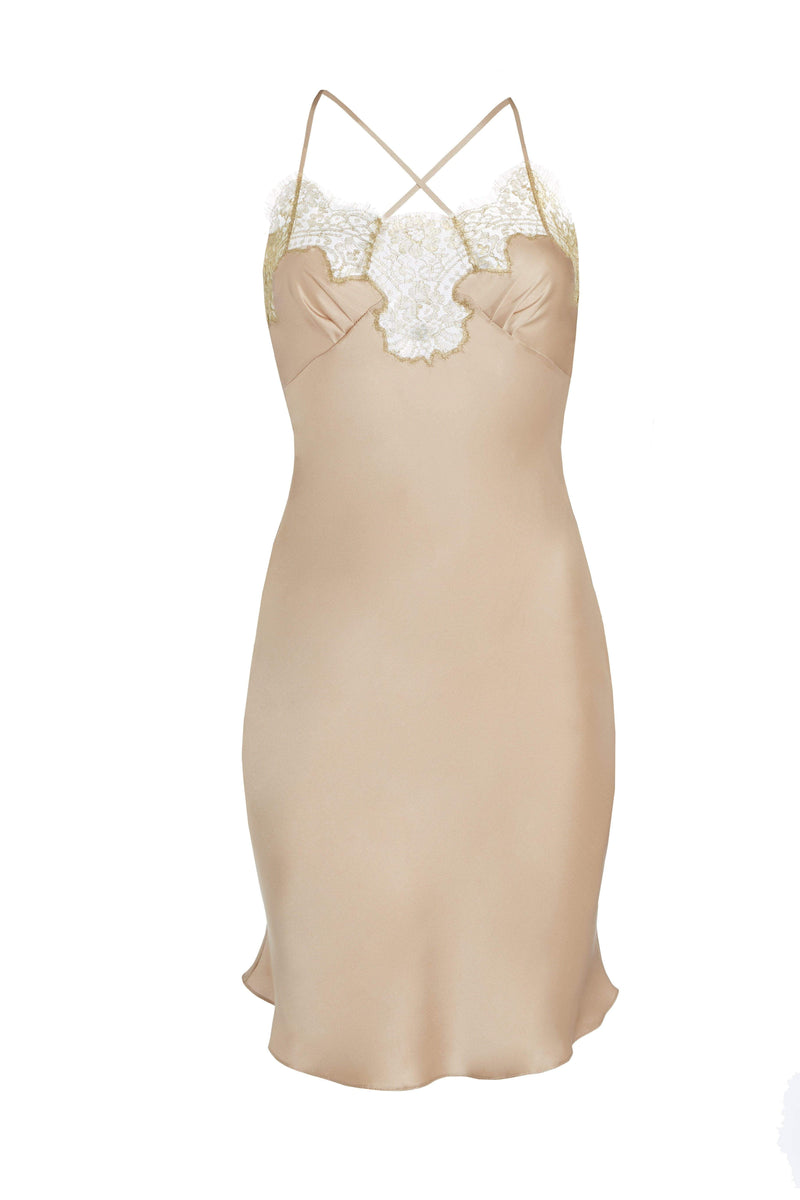 Gilda & Pearl Gina Short Silk and Lace Slip