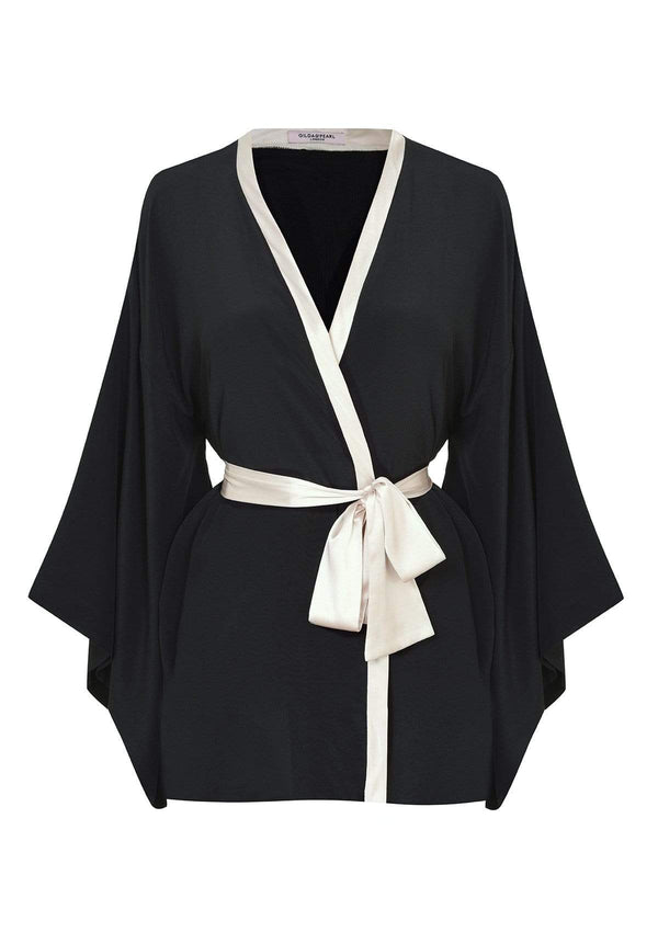 Gilda & Pearl Kimono One Size Nights in Paris Robe