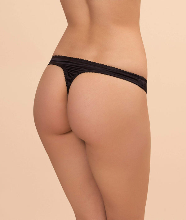 Gilda & Pearl knicker Manhattan Thong Black