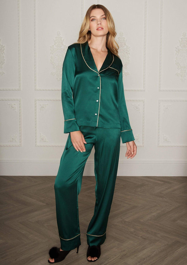 Gilda & Pearl Pyjamas Backstage Signature PJ Jacket and Matching Bottoms Set