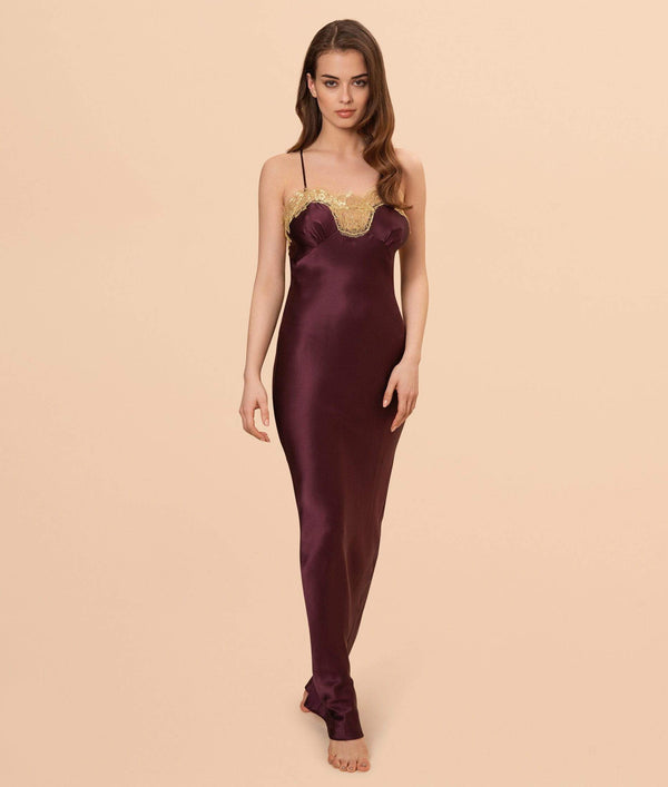 Gilda & Pearl Slip Gina Long Silk and Lace Slip