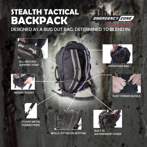stealth backpack features