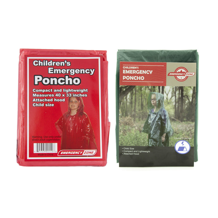 Children's Emergency Poncho - Emergency Zone