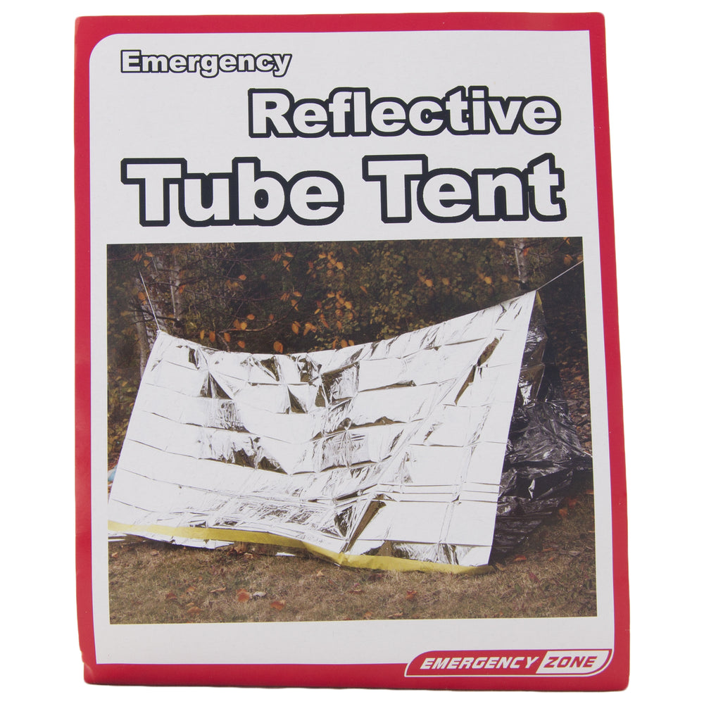 2 Person Reflective Emergency Tube Tent - Emergency Zone