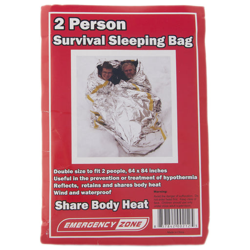 2 Person Survival Reflective Sleeping Bag - Emergency Zone