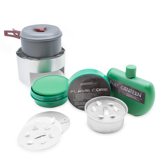 FlameCore Refillable Fuel Cell Deluxe Cooking Set - Emergency Zone