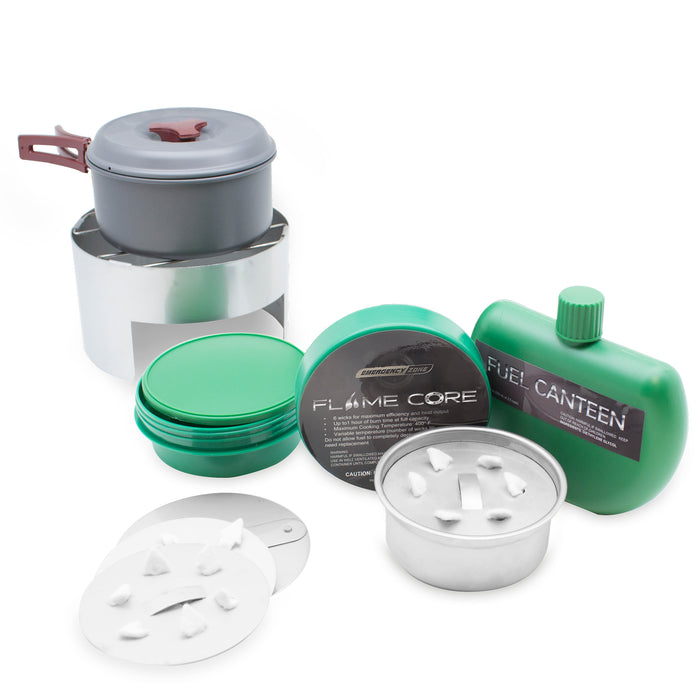 FlameCore Refillable Fuel Cell Deluxe Cooking Set