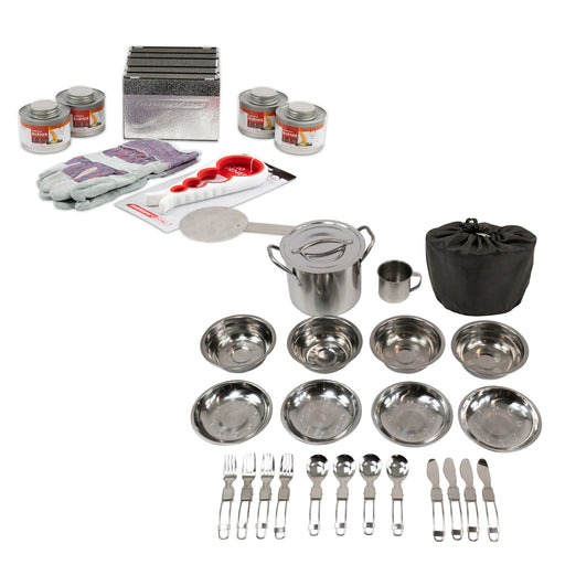 New & Improved Premium StableHeat Fuel Storage Set with Cooking Set - Emergency Zone