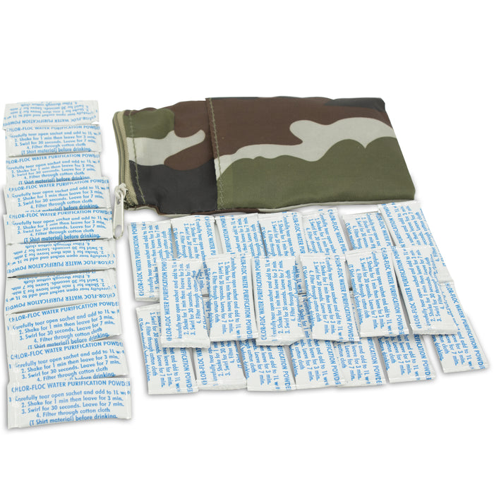 Chlor-Floc Military Water Purification - 30 Pouches