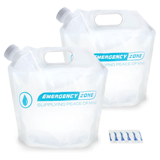 4 Liter / 1 Gallon Water Pouch - Emergency Zone