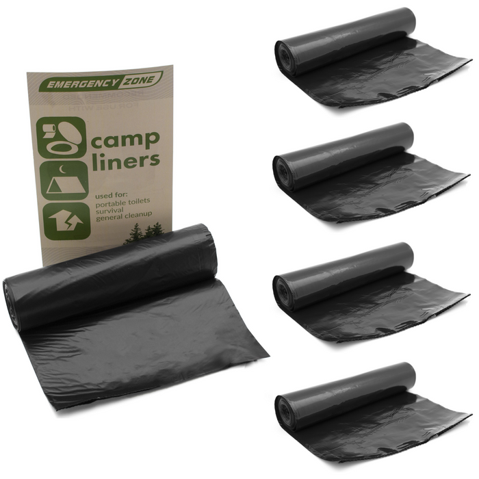 Portable Toilet Liners - Roll of 12 Liners - Emergency Zone