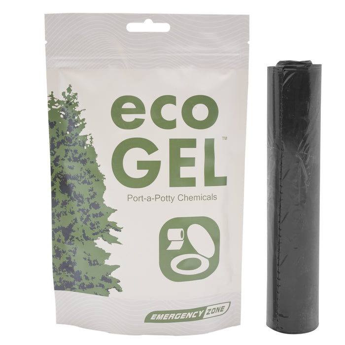Eco Gel & Toilet Liner Refill Set - Emergency Zone