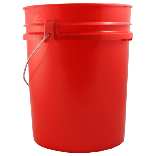 Red 5 Gallon Bucket - Emergency Zone