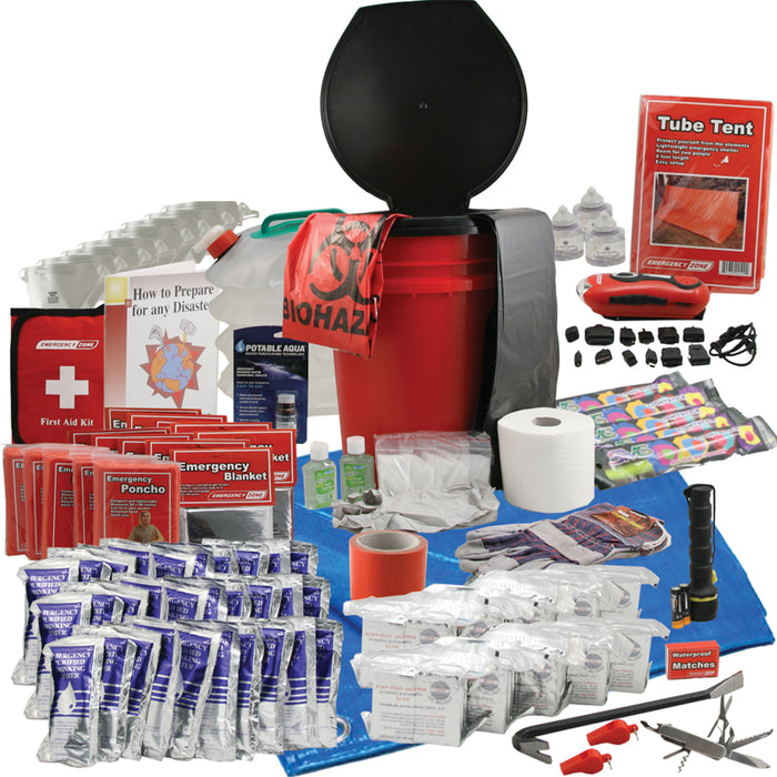 Office Honeybucket Emergency Kits - 10 Person - Emergency Zone