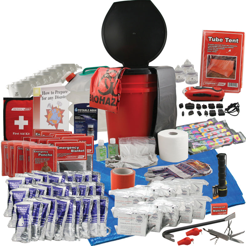 Office Honeybucket Emergency Kits - 10 Person