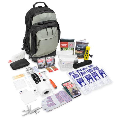 Deluxe 2 Person Urban Survival Kit - Tactical Backpack