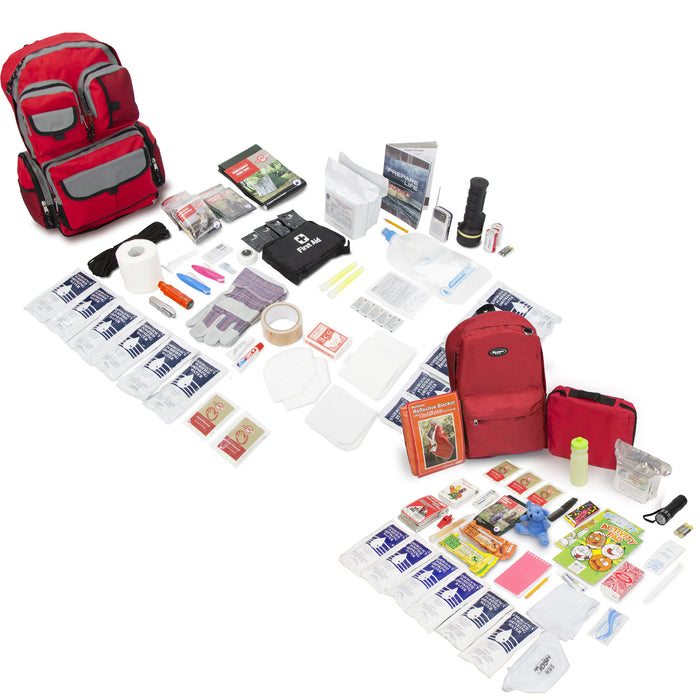 Bundle & Save! 2 Person Family Prep 72 Hour with Children's Deluxe 72 Hour Kit