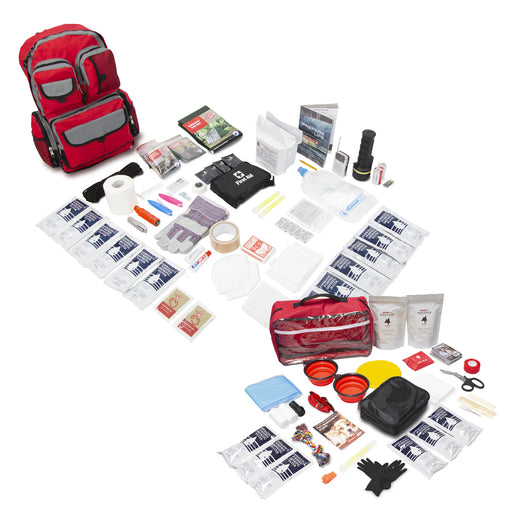 Bundle & Save! 2 Person Family Prep 72 Hour Kit with Basic Dog Emergency Kit