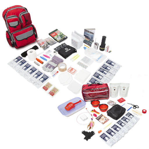 Bundle & Save! 2 Person Family Prep Survival 72 Hour Kit with Basic Cat Emergency Kit
