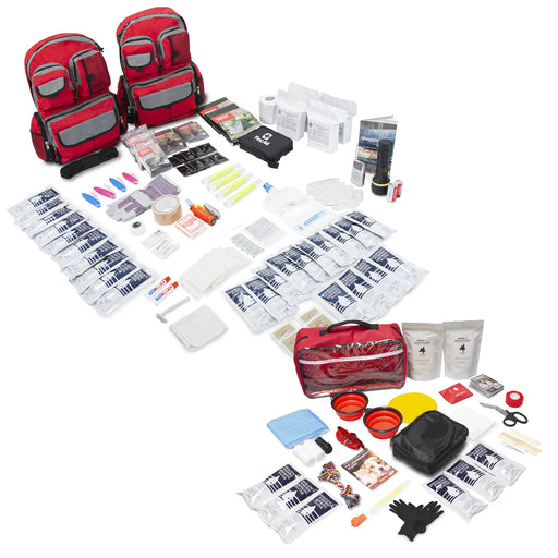 Bundle & Save! 4 Person Family Prep 72 Hour Kit with Basic Dog Emergency Kit