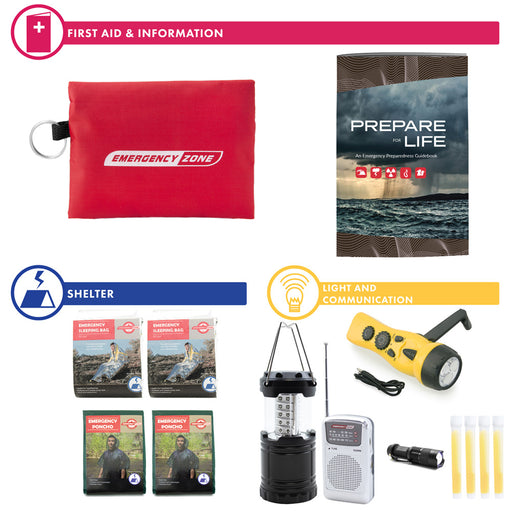 Complete Hurricane Survival Kit - 2 Person - Emergency Zone