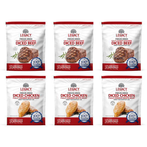 Beef & Chicken Variety 6 Pack - Emergency Zone