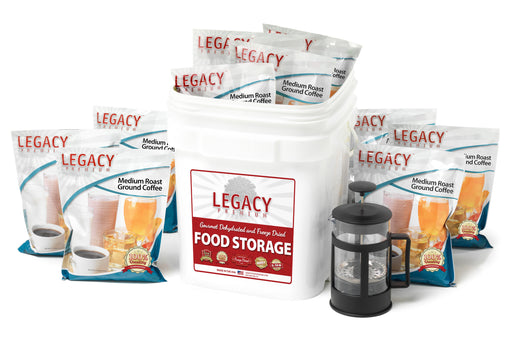 Legacy 350 Serving Ground Coffee Bucket with French Press