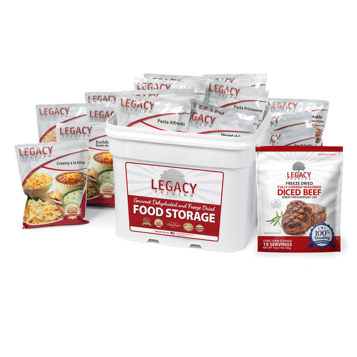 Legacy Freeze Dried Chicken And Beef Combo Buckets