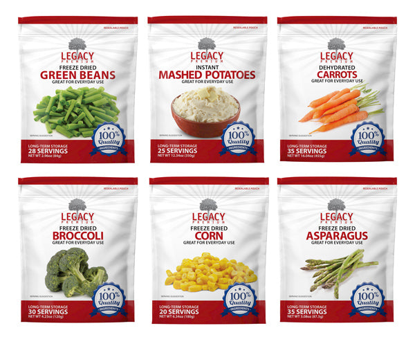 Legacy Freeze Dried and Dehydrated Vegetables - Emergency Zone