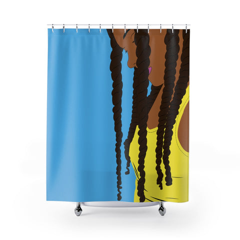 Jumbo Twist Print Shower Curtain