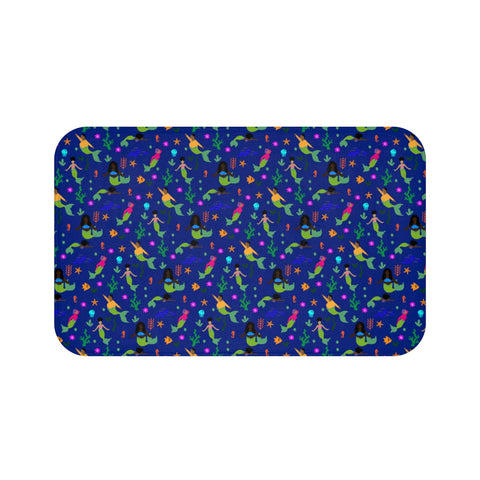 Melanin Mermaids Bath Mat